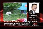 Leonel fernandez Declaraciones sobre haiti el terremoto 2010