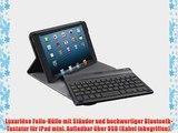 Trust Executive Folio Stand mit Tastatur f?r Apple iPad mini schwarz