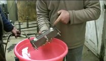 HHO Exploding Water demonstration using electrolysis