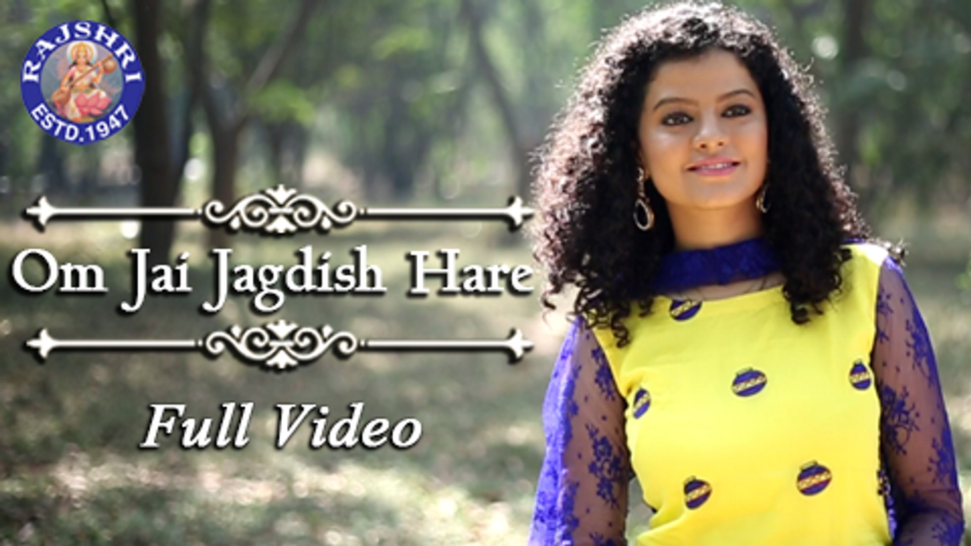 Om Jai Jagdish Hare Video Song Palak Muchhal Rajshri Soul