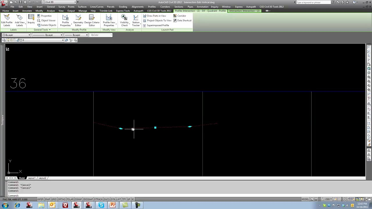 CGS Civil 3D Tools - Create Curb Return Profile