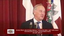 """Valsts prezidents sveic konkursa """"Vēsture ap mums"""" laureātus 25/05/2013"""