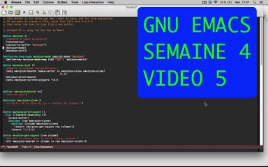 GNU EMACS SEMAINE 4 VIDEO 5