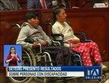 Setedis presentó resultados sobre personas con discapacidad