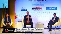 Propuestas de Clara López y Enrique Peñalosa para la Alcaldía de Bogotá