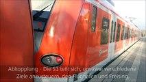 Neufahrn - Münchner S-Bahn - S-Bahn Teilung und Ankopplung
