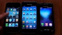 iPhone4 vs Galaxy S vs Samsung Wave comparativa by HDblog