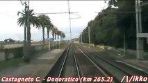 Linea Tirrenica Roma - Livorno 8° Tratto Treno Prove Archimede (dalla cabina)