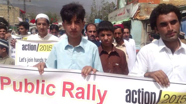 YAD-Pakistan, Action 2015 Advocacy and Mobilization for Finanace For Development (FFD) Public mobilization and Advocacy Rally in District Ziarat, Baluchistan, Pakistan