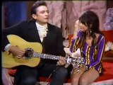 Linda Ronstadt &  johnny cash  i never will marry johnny cash show 1969