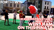 Watch Mike Leach go ham on a piñata