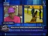 Gladys Tejeda y Raúl Pacheco fueron premiados por Federación de Atletismo (VIDEO)
