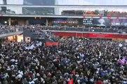 Demonstration mot SD på Sergels Torg