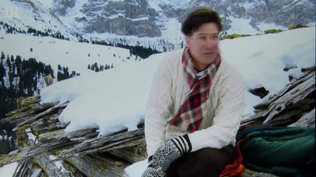Tobias Moretti : Trenker, Setbesuch in Dolomiten