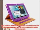 JAMMYLIZARD   Smart Case Ledertasche f?r Samsung Galaxy Tab 2 10.1 LILA
