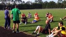 Reprise de l'entraînement d seniors de l'Arsenal Club ABC