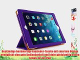 JAMMYLIZARD | Ledertasche Smart Case f?r iPad Air 2013 (5. Generation) VIOLETT