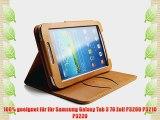 boriyuan Samsung Galaxy Tab 3 7.0 Zoll P3200 P3210 P3220 Echt Leder Case Echt Leder H?lle Leder