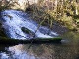Pêche de la truite fario au toc dans des ruisseaux des Pyrénées, mois de mars 2014