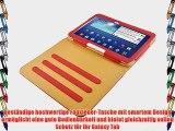 JAMMYLIZARD   Smart Case Ledertasche f?r Samsung Galaxy Tab 3 10.1 ROT