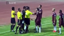 Referee fight against players and give them red cards funny football  Funny Moment™