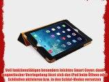 JAMMYLIZARD | Ledertasche Smart Case f?r iPad Air 2013 (5. Generation) SCHWARZ