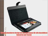 igadgitz Schwarz Echt Leder Tasche H?lle case f?r Amazon Kindle Fire 7 Display 8GB Wi-fi Android