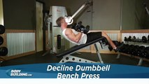 Decline Dumbbell Bench Press  - Chest Exercise - Bodybuilding.com