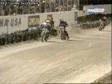 chute de moto à grande vitesse