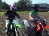 derbi senda r xtreme - kawasaki kx80 - orion pitbike