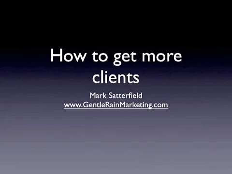 Business marketing coach shows you how to get more new clients by the Business Marekting coach