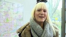 Fahrlehrerin Eva Blond bei der Feuerwehr in Frankfurt am Main