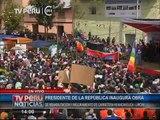Mandatario en ceremonia de las obras de la carretera Huancavelica-Lircay