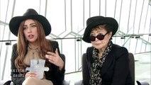 LADY GAGA, YOKO ONO, TALK PEACE, MUTUAL ADMIRATION FOR LENNON ONO GRANT