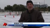Winter Storm Blasts Super Bowl City