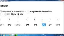 MATEMÁTICAS Conversión de un número binario a decimal MATEMÁTICAS DISCRETAS