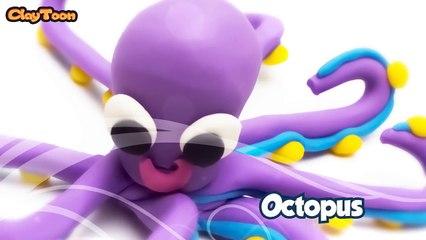 Octopus - Polymer clay tutorial  اخطبوط - تشكيل صلصال للأطفال