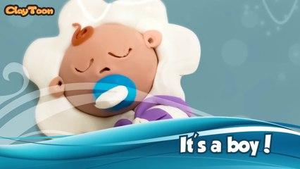 Its a boy - Polymer clay tutorial  طفل رضيع - تشكيل صلصال للأطفال