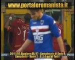 Sampdoria-Roma 2-4 (1-4 del grande capitano Totti)