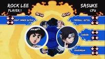 Naruto - Rock lee uses eight inner gates on sasuke