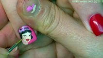 3 Nail Art Tutorials   DIY Snow White Nails   Short Nails with Pink Hearts and Crown!