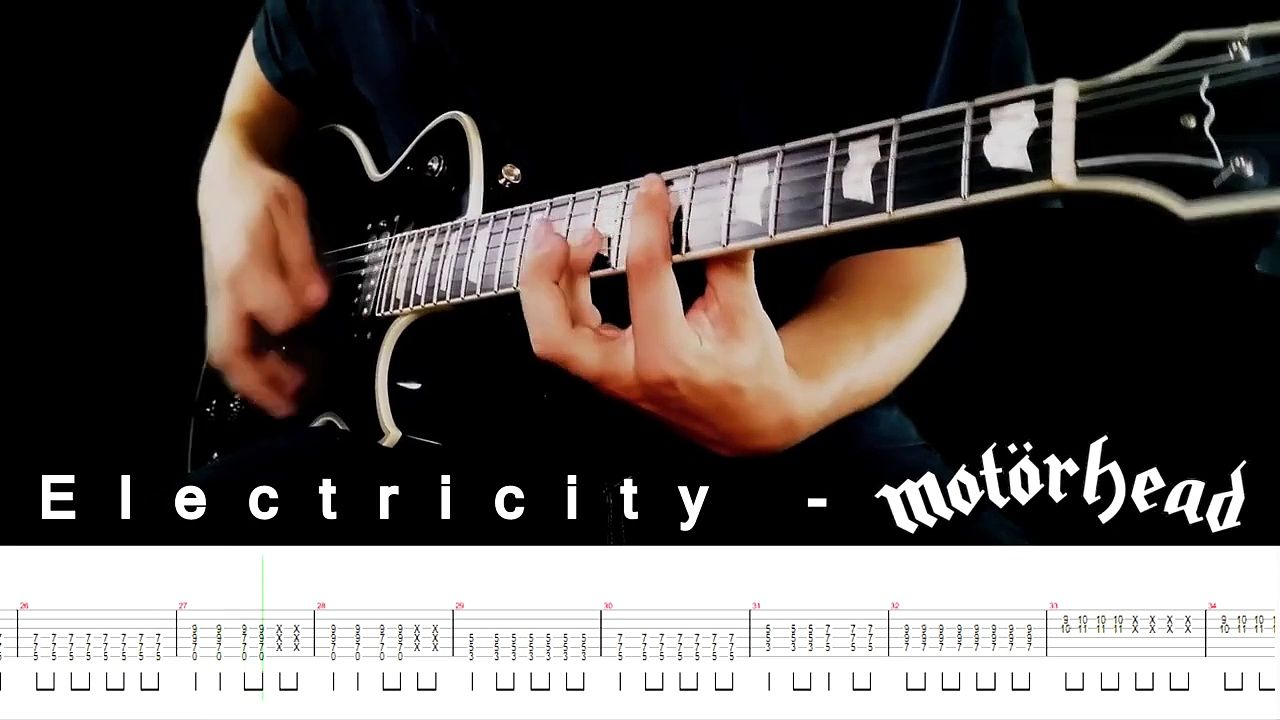 MOTORHEAD – Electricity Cover – Guitar Lesson With TABS