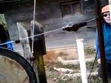 Stupendous Pedal Powered Bench Grinder Diy Video Dailymotion Machost Co Dining Chair Design Ideas Machostcouk