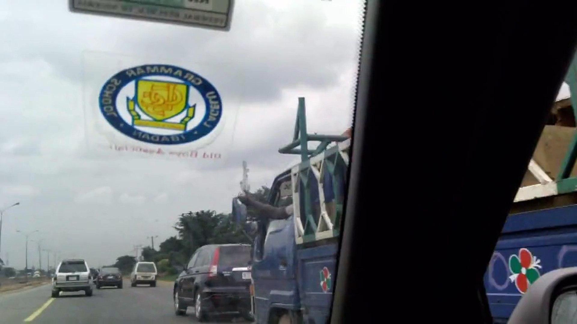 Drive through Lagos,Nigeria from Ibadan, Nigeria
