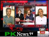 TV anchor Shahid Masood slap PPP leader Qamar zaman Kaira in live talk shows and badly  Criticise Qamar Zaman Kaira