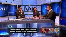 Bulls' Joakim Noah Makes Pitch to Carmelo Anthony