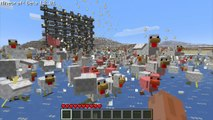 7000 Chickens Spawned HUGE Dispenser Wall - Minecraft HD