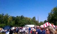 Huey 369 flyby, Vietnam Veterans Memorial in Richmond Indiana