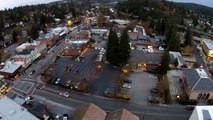 Grass Valley Sunset - Downtown aerial