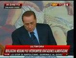 """Berlusconi: """"Ogni sforzo per non far morire Eluana"""""""